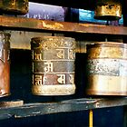 Prayer wheels Mongolia by fionapine
