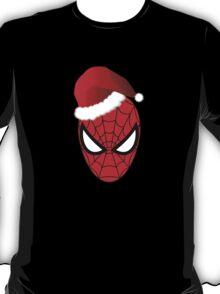 Christmas Spider-Man in Santa Hat  T-Shirt
