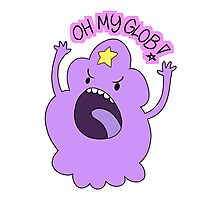 "Adventure Time - Lumpy Space Princess ""Oh My Glob!"" Photographic Print"