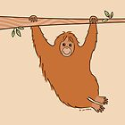 Swinging Orangutan by zoel
