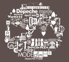 Depeche Mode : DM Logo 2013 - With old logo 2 - White Kids Clothes