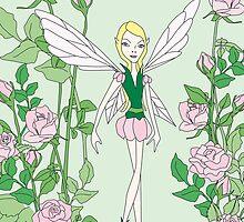 flower fairy rose by Micheline Kanzy