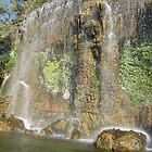 A beautiful waterfall in the South of France by dolphin