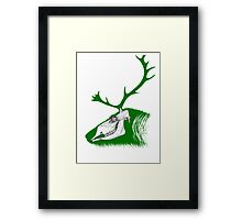 Rudolph the Green Reindeer Framed Print