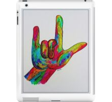 "American Sign Language ""I LOVE YOU"" with a Border iPad Case/Skin"