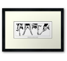 BODY LANGUAGE Framed Print
