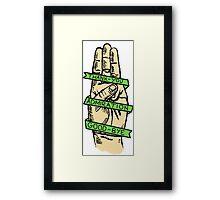 Three Finger Salute Framed Print