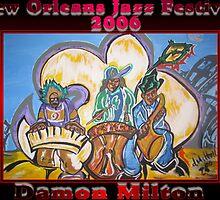 2006 jazz festival poster by damon  milton