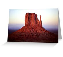 Red Monolith Greeting Card