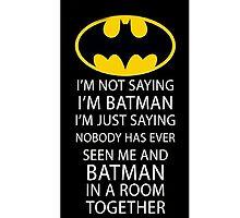 Batman Room Funny Quote Dark Knight Logo Robin Gotham by MagicCase