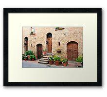 Summertime - Pienza, Italy Framed Print