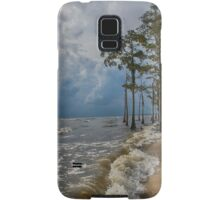 Cypress trees on the beach Samsung Galaxy Case/Skin