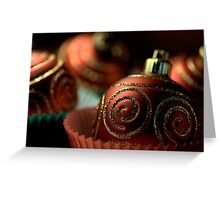Christmas Bauble Cupcakes Greeting Card