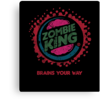 Zombie King Canvas Print