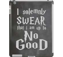 I Solemnly Swear... Harry Potter Marauders Quote iPad Case/Skin