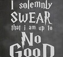I Solemnly Swear... Harry Potter Marauders Quote by geekchicprints
