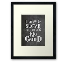 I Solemnly Swear... Harry Potter Marauders Quote Framed Print