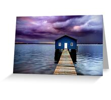 Blue Boathouse 2 Greeting Card