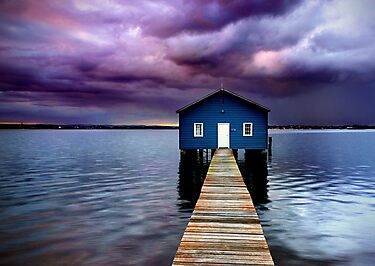 Blue Boathouse 2 by Annette Blattman