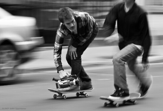 Skate Shoot - Street Scene, New York City by Judith Oppenheimer