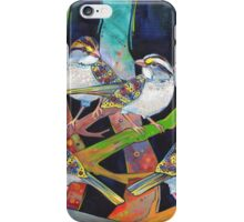 White-throated sparrows iPhone Case/Skin