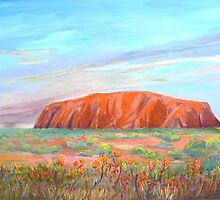 Uluru -Ayers Rock  by Virginia McGowan