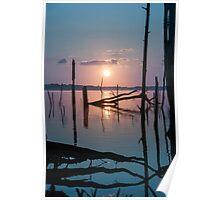 Sunrise over Manasquan Reservoir Poster