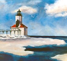 Michigan City Light by Brenda Thour