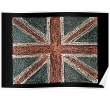United Kingdom (British Union jack) flag Poster