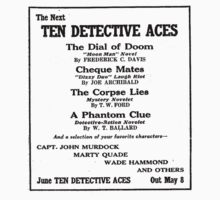 TEN DETECTIVE ACES - The Dial of Doom and more... Kids Clothes