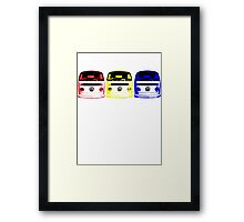 VW Kombi Shirt - Red Yellow Blue Framed Print