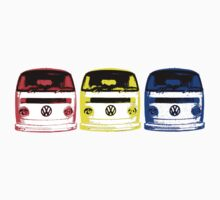 VW Kombi Shirt - Red Yellow Blue by melodyart