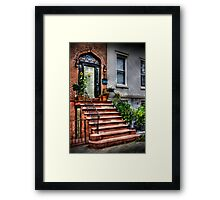 The red staircase  Framed Print