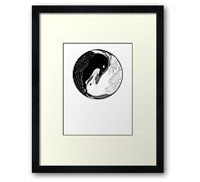 Crow & Gull Framed Print