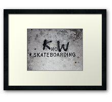 KnoW skateboarding Framed Print