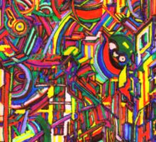 color cluster Sticker
