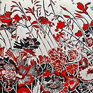 "Woodcut Flowers in Red by Belinda ""BillyLee"" NYE (Printmaker)"