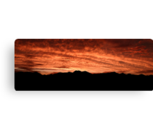 Desert Sunset In Red Canvas Print