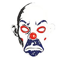 Joker Bank Robber Mask Photographic Print