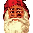 Psychedelic Santa Claus Sees All by apeape