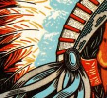 American Indian Chief Profile Sticker