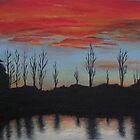 Sunset At Ringwood Lake by Jess Hall