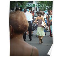 Walking Away, Union Square Farmer's Market, New York Poster