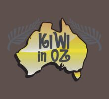 KIWI in OZ! Australian Aussie map  by jazzydevil