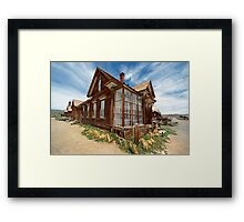 J. S. Cain Residence, Bodie Ghost Town Framed Print