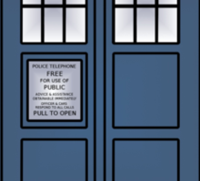 Doctor Who Tardis doors Sticker