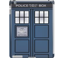 Doctor Who Tardis doors iPad Case/Skin