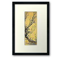 'Flowering Plum' by Katsushika Hokusai (Reproduction) Framed Print