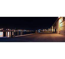 Fremantle Docks At Night Panorama  Photographic Print