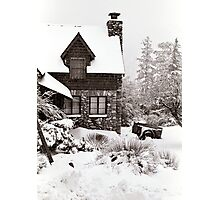 Mt. Baldy Cabin in a Snowstorm Photographic Print